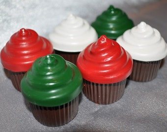 Recycled Crayons Cupcake Shaped - Set of 6.  Boy or Girl Kids Unique Party Favors, Crayons.