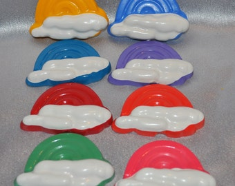 Rainbow Crayons, Large Rainbow Shaped Total of 16.  Boy or Girl Kids Unique Party Favors, Crayons.