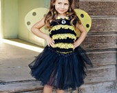 Bumble bee costume petti romper costume 4 piece set