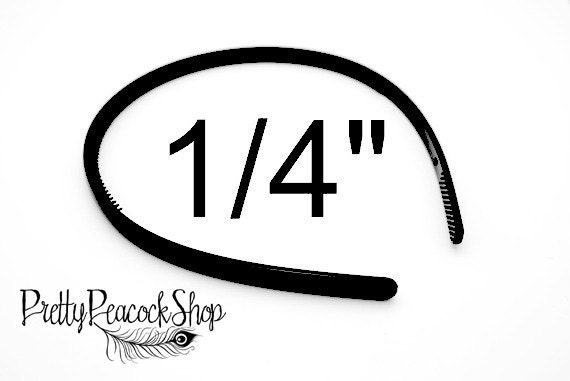 15pcs 1/4 Inch Unfinished Black Headbands With Teeth (For Crafts, Hair Accessories...)