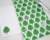 Little Forest Card - Blank Inside - Woodland Design - Tree pattern