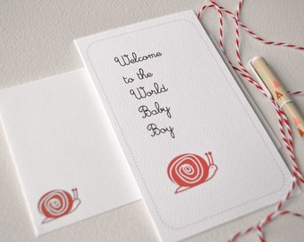 New Baby Card - Welcome to the World Baby Boy, Congratulations.