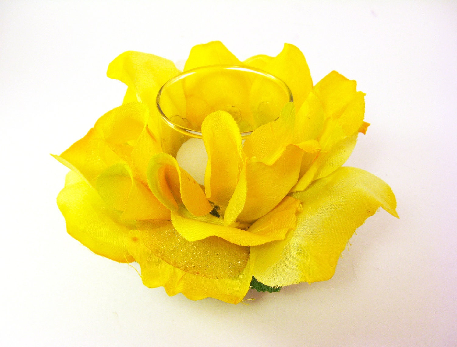 Yellow Rose Candle Holder Bright Yellow Candle Holder Easter
