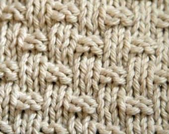 KNITTING PATTERN-Weave it to Me, Dishcloth Pattern