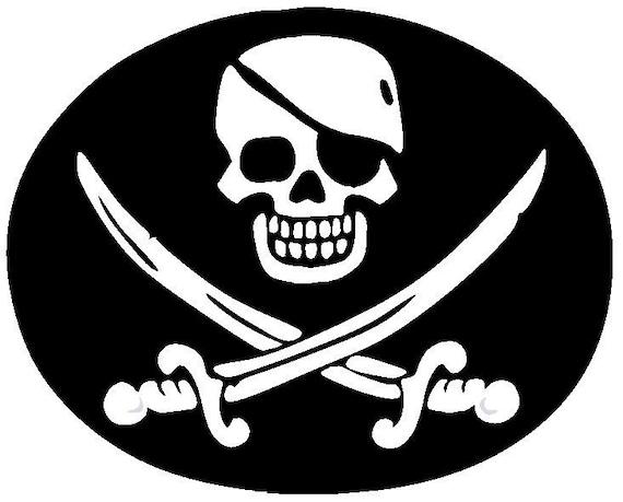 Small Vinyl Decals Pirates Skull and Crossbones