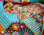 Bed Quilt - Fun and Bright