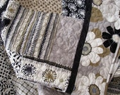 Reserved Listing for Angie Wessinger Lap Quilt - Soft Taupe, Grey, Black and Cream