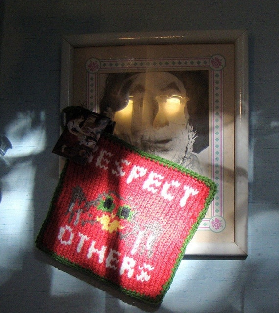 Potholders, Coworker Gift, Gag Gift, Tarantula Potholder, Bridal Shower Gift, Christmas Potholders, Respect Others Potholder, Housewares