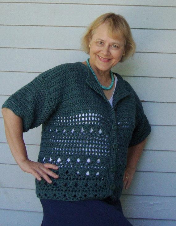Deep Teal Sweater - Cozy Cotton Cardigan, M