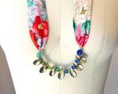 Tahiti - Boho cast brass statement Seashell necklace - Brazen Design / Simone's Rose