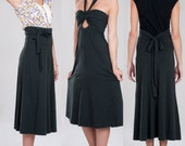 Convertible skirt / dress - Eco friendly Soy & Organic cotton french terry - Simone's Rose XS, S, M, L, XL