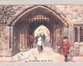 Macabre the Gateway bloody Tower Tower of London art drawn PC another British location postcard England