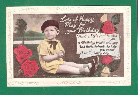 Items Similar To Antique Vintage Children Birthday