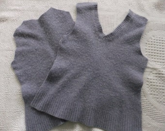 Felted Lambswool Blend Sweater Remnants Lavender Recycled Wool Fabric Material