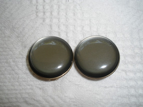 Vintage Clip Earrings Gray Costume Jewelry
