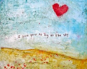 I love You as Big as the Sky 12 x 12 giclee print