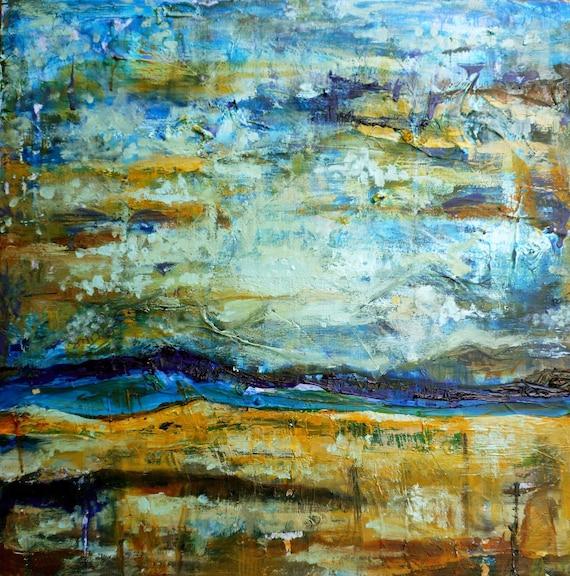 Original Painting, Big as the Sky, 24 x 24, Modern Landscape