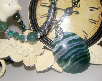 Moss Agate  Necklace    Don't U Just Luvzit