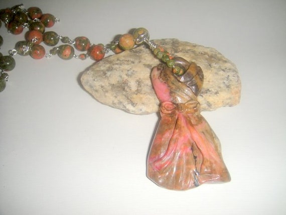 Reserved for Jan          A Special Dress                 (Unakite Carved Dress)
