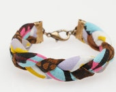 Hand Printed 'Tiger Stripe III' Braided Bracelet