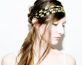 Studded Headband in Gold and Black