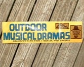 Hatfields and McCoys bumper sticker from West Virginia outdoor musical drama grandview state park beckley