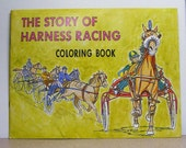 Harness horse racing vintage coloring book the story of harness racing horse lovers booklet