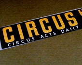 Circus Hall of Fame Bumper Sticker Sarasota Florida orange black white auto car decal big top circus acts daily elephants