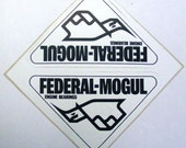 Vintage racing decal federal mogul sticker hot rod auto bumper sticker car restoration collector
