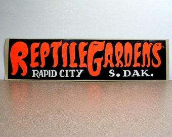 Reptile Gardens South Dakota vintage bumper sticker rapid city