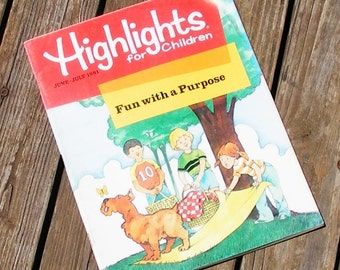 Highlights Magazine June July 1981 fun with a purpose birthday gift children learning play crafts