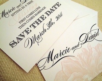 K I S S I N G Letterpress Save-The-Dates