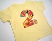You Choose Number or Letter and Color Shirt Appliqued with Sesame Street Fabric Birthday TShirt
