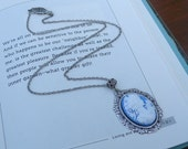 Royal Blue Icing   Petite Cameo Necklace