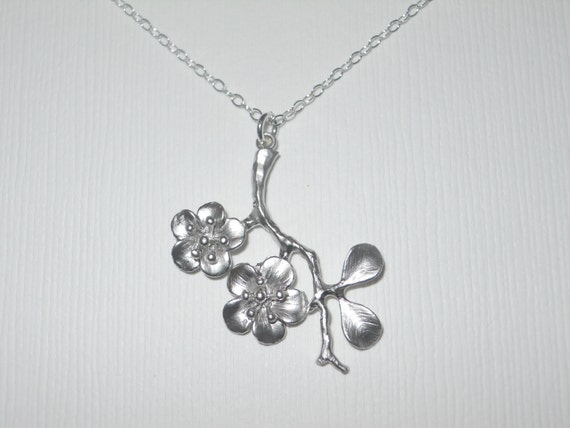 Cherry Blossom Branch Necklace