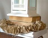 Shabby Chic Burlap Garland 6' -  Rustic Decor (skinny) - Wedding/Home/Holiday