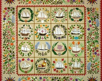 Quakertown Quilts Ladies of the Sea Ships Baltimore Album BOM Block of Month 12 Pattern Set