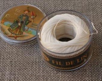 Sajou Fil Au Chinois Waxed Linen Sewing Thread - Ecru