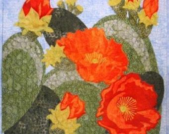 Prickly Pear in Bloom Cactus O Carol Morrissey Pattern