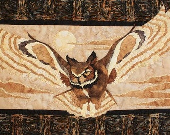Midnight Glide Owl Toni Whitney Bird Fusible Applique Quilt Pattern