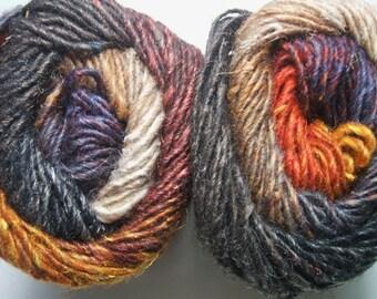 Noro Silk Garden Yarn Mohair Wool Autumn Burnt Orange Per Skein 349 J