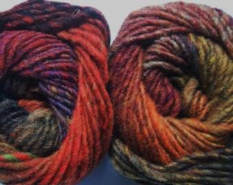 Noro Kureyon Wool Autumn Rust Brown Yarn One Skein 263 Lot O