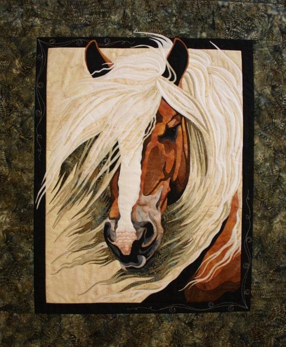 Mistral Horse Toni Whitney Designs Applique Quilt Pattern & Fabric Kit