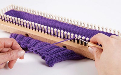 Double Knit Stitch Round Loom : KB All in One Loom 18 Knitting Board with Round and Sock