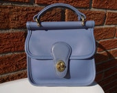 RESERVED COACH Vintage Periwinkle Blue Small WILLIS Leather Bag Purse