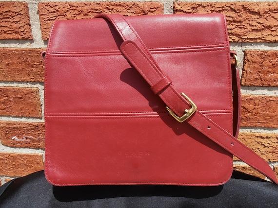 Vintage COACH 9092 RED Tribeca Flap Messenger Crossbody Bag Purse