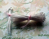 20 Sterling Silver 1 inch ball end Headpins