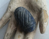 Reserved Carved Lapis Bead 3