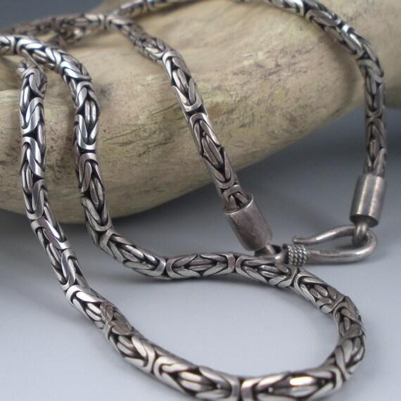 Interlocking Sterling Chain Necklace