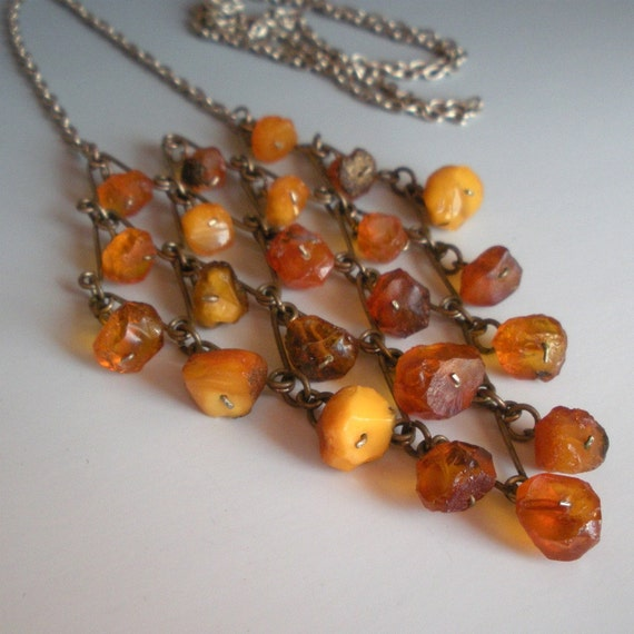 RESERVED RESERVED Baltic Amber Nugget Necklace